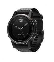 Спортивные смарт часы Garmin Fenix 5S Sapphire - черные с черным ремешком 010-01685-11