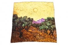 Итальянский платок из шелка картина сад 1051