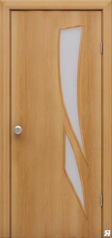 Дверь Сибирь Профиль Стрелиция (С-2), цвет миланский орех, остекленная