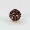 Винтажный элемент - бусина шарик филигрань 8 мм (оксид меди)