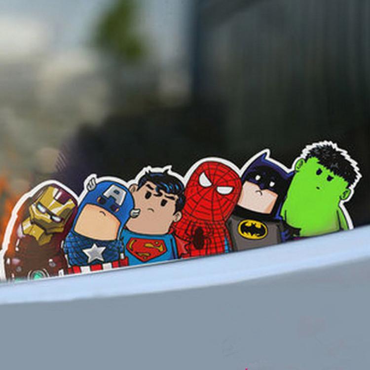 Superheroes car sticker