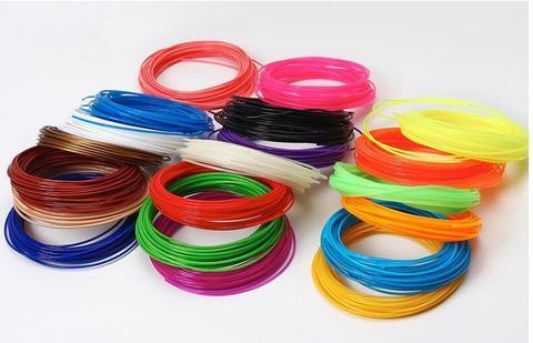 Пластик для 3D ручки PLA 20 шт. - по 10 метров