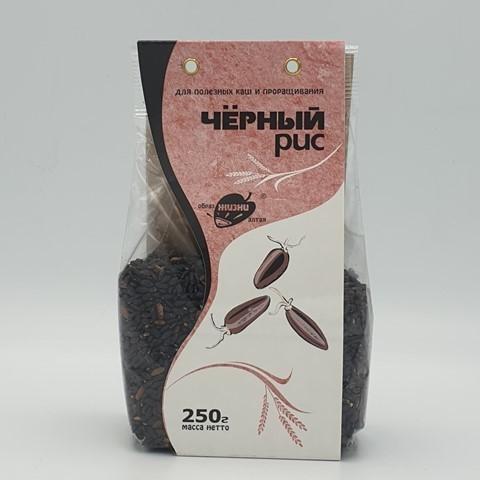 Рис Чёрный для каш и проращивания ОБРАЗ ЖИЗНИ, 250 гр