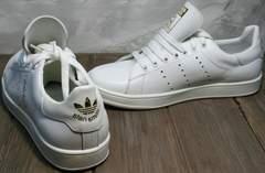 Белые кеды для девушек Adidas Stan Smith White-R A14w15wg