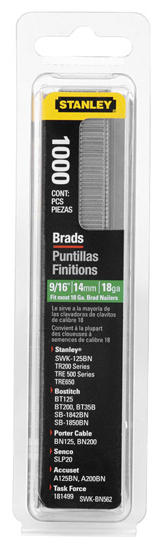 Гвозди  для степлера  15мм №J  Stanley 1-SWK-BN0625T