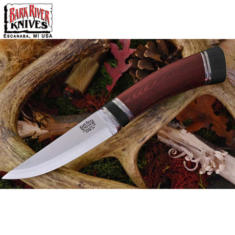 Нож Bark River Scandi модель Red Linen Micarta Black Paper Space