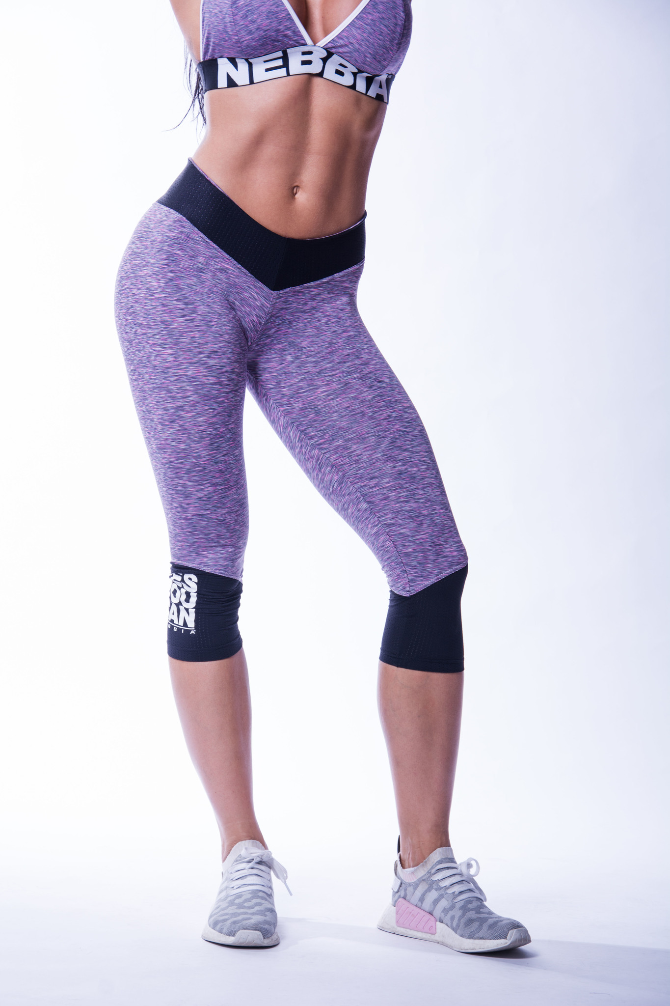 Женские капри NB High waist ¾ leggings 607 purple