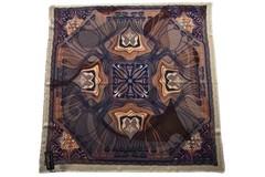 Шерстяной женский коричневый платок (0101 PLATOK 8)