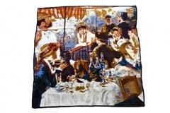 Итальянский шелковый платок с картиной Огюста Ренуара