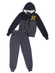 BL23-1 спортивный костюм детский, сине-серый