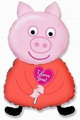 F Мини фигура Поросенок Я тебя люблю /Piglet (14