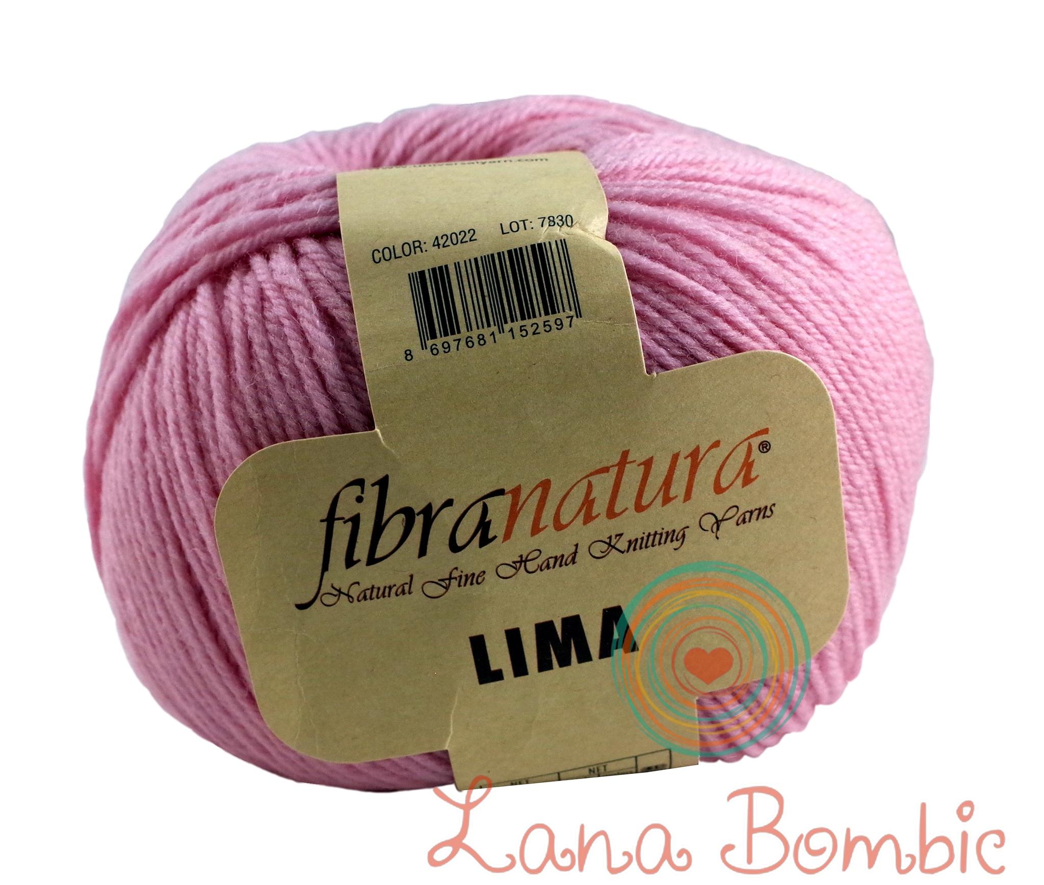 Пряжа FibraNatura Lima 42022 нежно-розовый