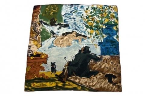 Итальянский платок из шелка картина 1101