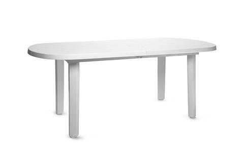 Пластиковый стол овальный белый 1800х900х710
