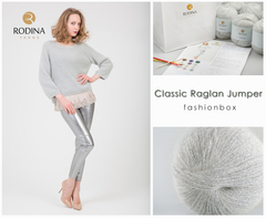 Classic Raglan Jumper Fashionbox by Rodina Yarns