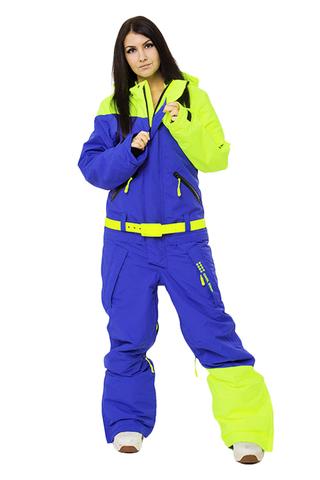 Сноубордический комбинезон женский Cool Zone салат-синий