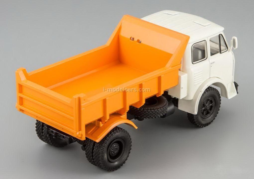 MAZ-503B tipper white-orange 1:43 Nash Avtoprom