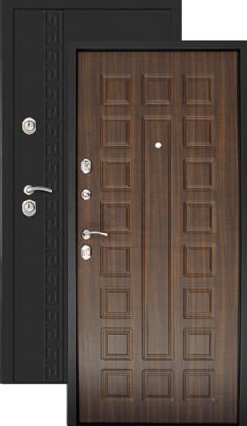 Дверь входная Дверной континент Сити-1, 2 замка, 1,5 мм  металл, венге