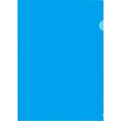 Папка-уголок A4 синяя 180 мкм 10шт/уп