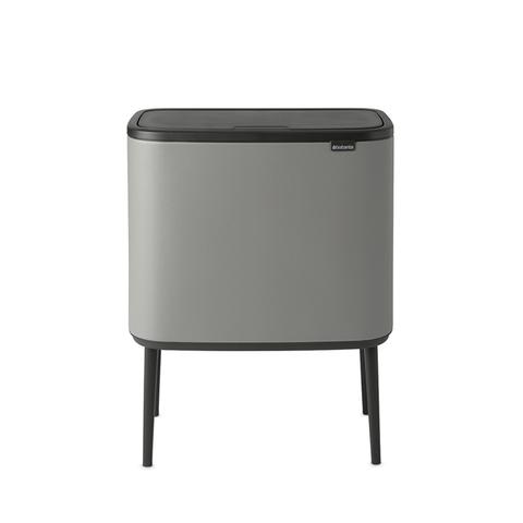 Мусорный бак Touch Bin Bo (3 х 11 л), Минерально-серый, арт. 127229 - фото 1