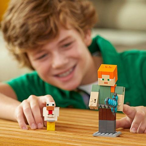 LEGO Minecraft: Алекс с цыпленком 21149 — Alex BigFig with Chicken — Лего Майнкрафт