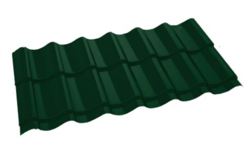 Металлочерепица Арарат Полиэстер RAL 6005 Зеленый мох