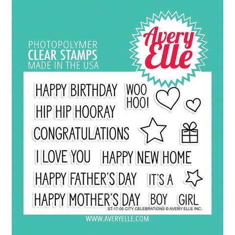 Комплект силиконовых штампов - Avery Elle Clear Stamp Set 8х10см- City Celebrations
