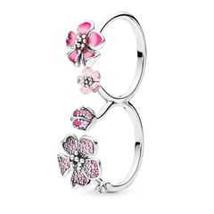 PEACH BLOSSOM FLOWERS RING