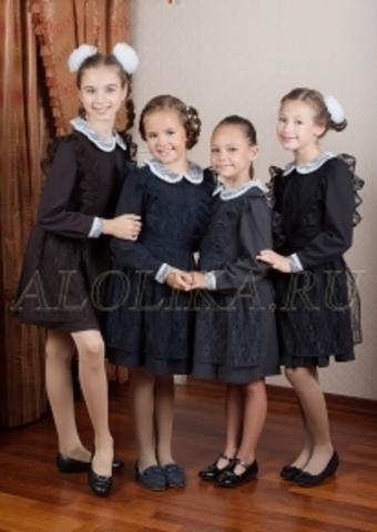 Alolika Платье школьное Первоклашка для девочки синее