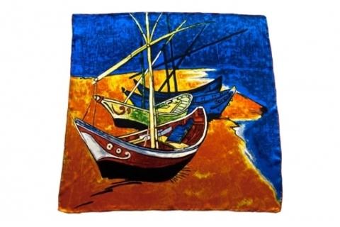 Итальянский платок из шелка картина 1326