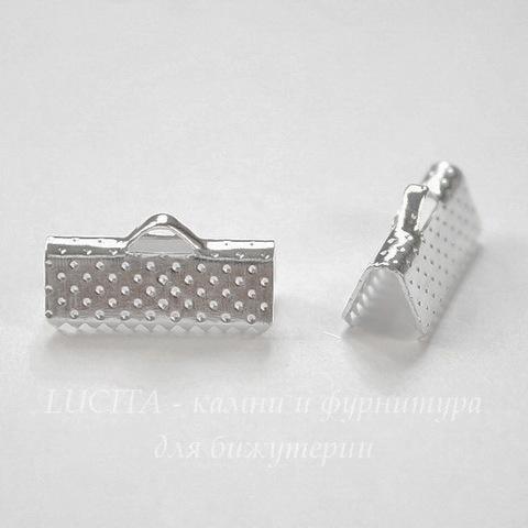 Концевик для лент 16 мм (цвет - серебро), 10 штук