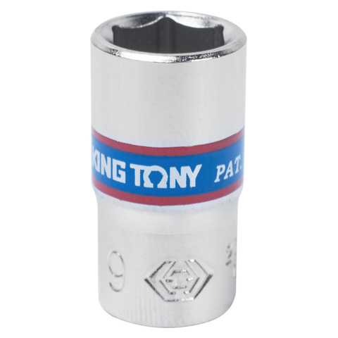 KING TONY (233509M) Головка торцевая стандартная шестигранная 1/4