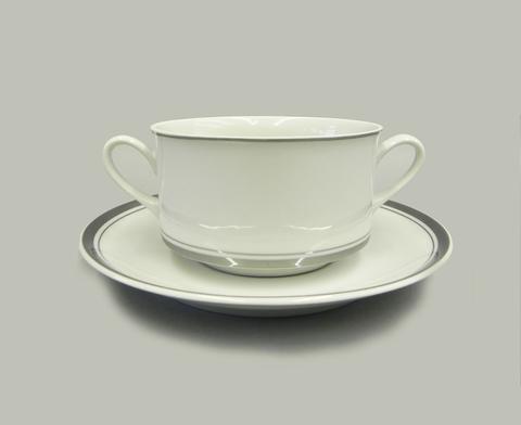 Набор чашек для супа с блюдцами 0,30 л 6 штук Сабина Leander