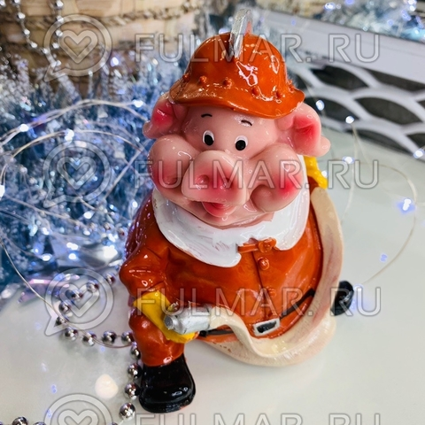 Копилка Свинка Профессия Пожарник Боб символ 2019 года