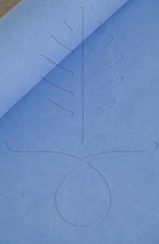 Мраморный канвас, цвет голубой