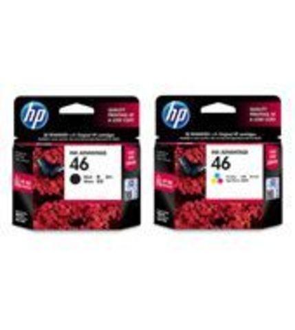 Комплект картриджей 2 черных + цветной HP №46 F6T40AE для HP Deskjet Ink Advantage Ultra 2020hc, 2520hc, 2029, 2529, 4729. Ресурс 2х1500 + 750 стр.