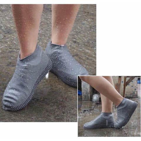 Многоразовые бахилы серые Shoescondom (толстый силикон)