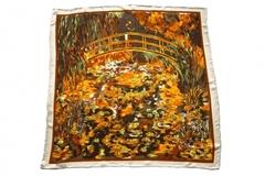 Итальянский платок из шелка коричневый картина 1501
