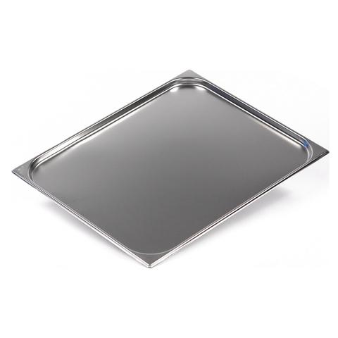 Гастроемкость GN 2/1 654х530х20 мм Luxstahl [821-20], нержавеющая сталь