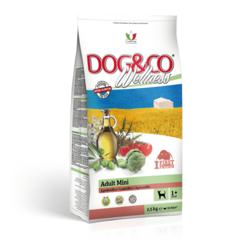 Adragna Dog&Co Wellness Adult Mini Lamb&Rice (2.5 кг)