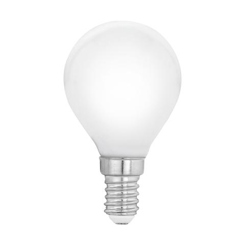 """Лампа  Eglo филаментная """"Милки"""" опал. стекло LM LED E14 P45 2700K 11604"""