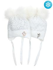 684B-1 шапка для девочек, белая