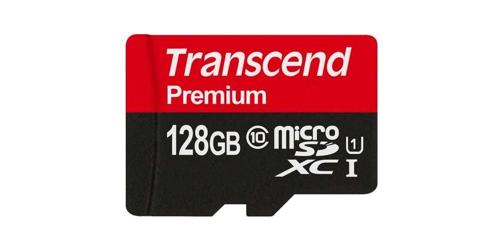 Флеш карта microSD 128GB Transcend microSDXC Class 10 UHS-I U1 (SD адаптер) сама карта