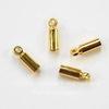 Концевик для шнура 2,3 мм (цвет - золото) 9х3 мм, 4 штуки