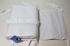 Бампер для детской кроватки 195х45 Bovi Вензель бело-голубой