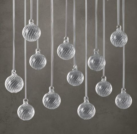 Artisan Handblown Glass Mini Swirl Balls (Set of 12)