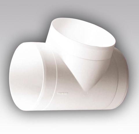 Тройник Т-образный 125 мм пластик