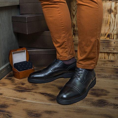 Мужские туфли на высокой подошве