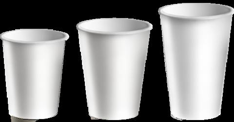 Стакан бумажный 1сл 250 (270) мл d=80мм белый