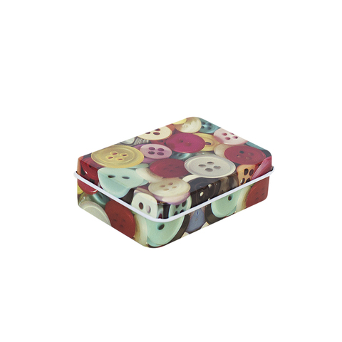 Металлическая коробочка Button
